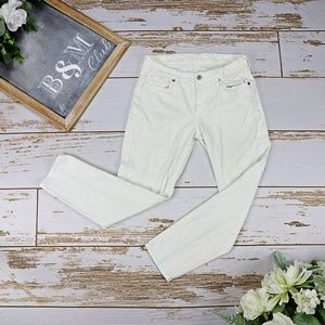 7 For All Mankind Kimmie White Cropped Jeans